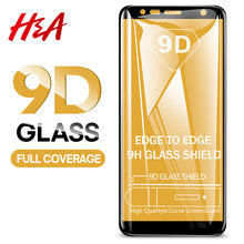 H&A 9D Tempered Glass For Samsung Galaxy J4 Plus J6 J8 A6 A8 A7 2018 Screen Protector A5 A3 A7 2017 Protective Glass Film(China)