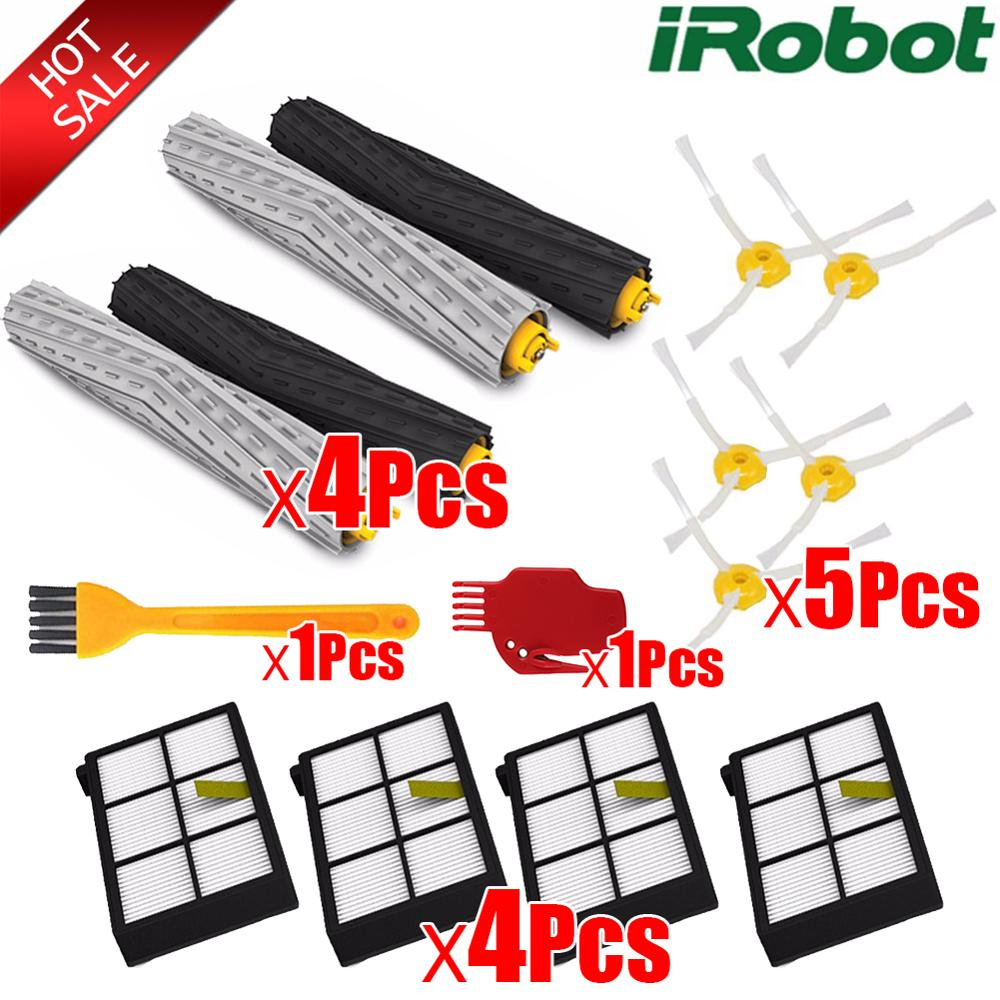 Main Roll Brush Hepa Filter Side Brush Kit For IRobot Roomba 800 900 Series 870 880 980 Vacuum Cleaner Robot Parts