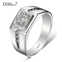 DJM Top Quality Brand Fashion Jewelry 925 Sterling Silver CZ Diamond Love Engagement Wedding Rings For