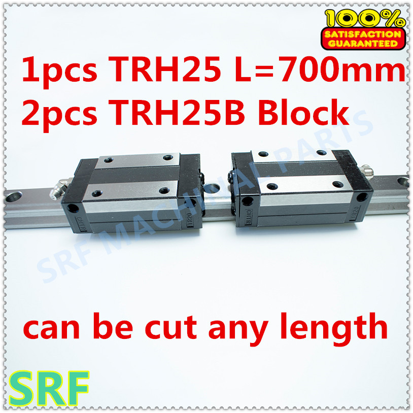 High quality 25mm Precision Linear Guide 1pcs TRH25 L=700mm Linear guide rail+2pcs TRH25B linear slide block for X Y Z Axis 1pc trh25 length 1500mm linear guide rail linear slide track auto slide rail for sewing machiner