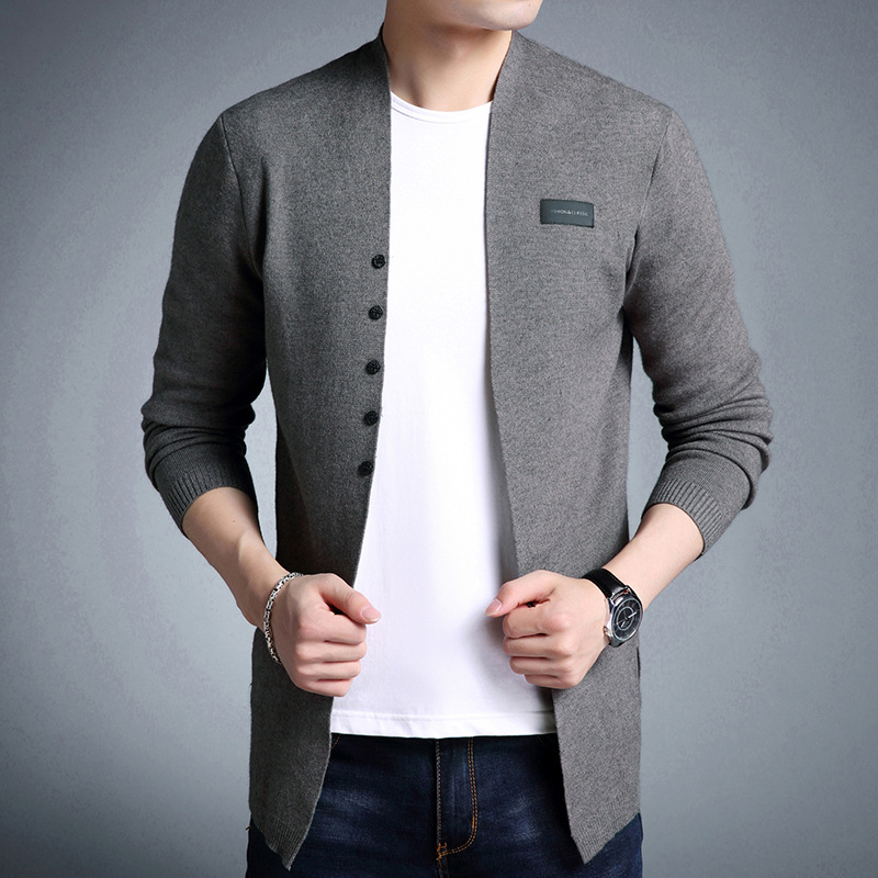 Sweaters Men Sweater Slim Tops Cardigan Solid Casual Mens Wool Sweater Men Winter Clothes Men Streetwear Plus Size Warm Solid
