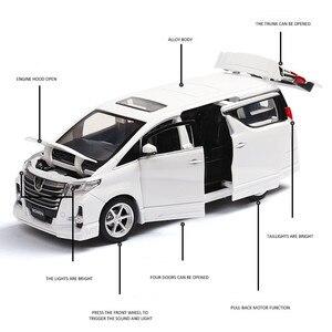 Image 5 - Squisito regalo 1:32 Hong Kong alphard modello di auto in lega, simulazione die cast suono e luce posteriore forza SUV modello, trasporto libero