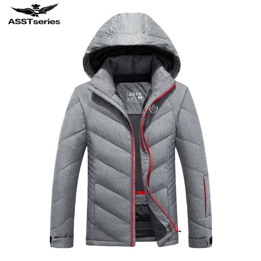 Hot Stylish Winter Ultra Light White Duck Down Jacket Men New Brand Slim Fit Mens Jackets And Coats Parka Hooded 205wy