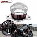 Motocicleta Sistema de Filtros de Entrada Para Harley Sportster Xl883/1200 04'-up Filtro de Aire Filtro De Aire Para Desbaste Artesanías