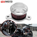Motorcycle Intake Filters System For Harley Sportster Xl883/1200 04'-up Air Filter For Rough Crafts Air Cleaner