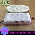 2 conjunto 220 v LED fora motorista 2.4 G RF controle remoto sem fio inteligente shap30-36w bloco de luzes de teto