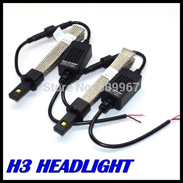 H3 h11 h7 lumière LED 5000LM phare LED faisceau unique H3 LED phare avec ceinture de Dissipation thermique intelligente H3 feu de brouillard