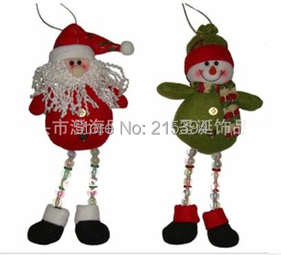 26cm 100 handmade santa claus snowman doll christmas gift wholesale xmas decorations 2pcs