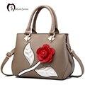 MORESHINE 3D flores PU bolsa de design de Moda das senhoras das mulheres de couro crossbody bag Feminino bolsa de ombro macio bolsas de grife