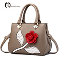 MORESHINE 3D flowers PU leather women's handbag Fashion design ladies crossbody bag Female soft shoulder bag bolsas de grife
