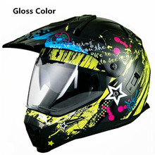 Double lens  Motorcycle Helmets Motocross Racing Helmet Off Road Motorbike Full Face Moto Cross Helmet XS size helmet