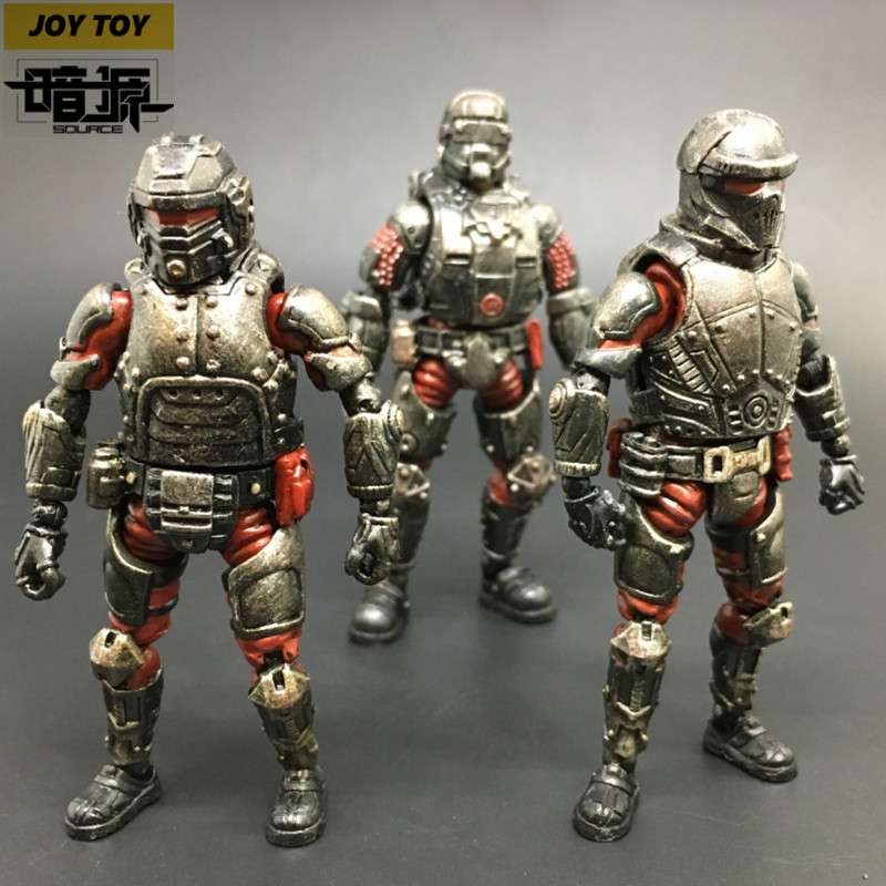 (3-piece set)1:27 the 3rd generation model Steel Ride Red  Corps Action Figures soldier military decoration  gift  New Boxed фигурка planet of the apes action figure classic gorilla soldier 2 pack 18 см