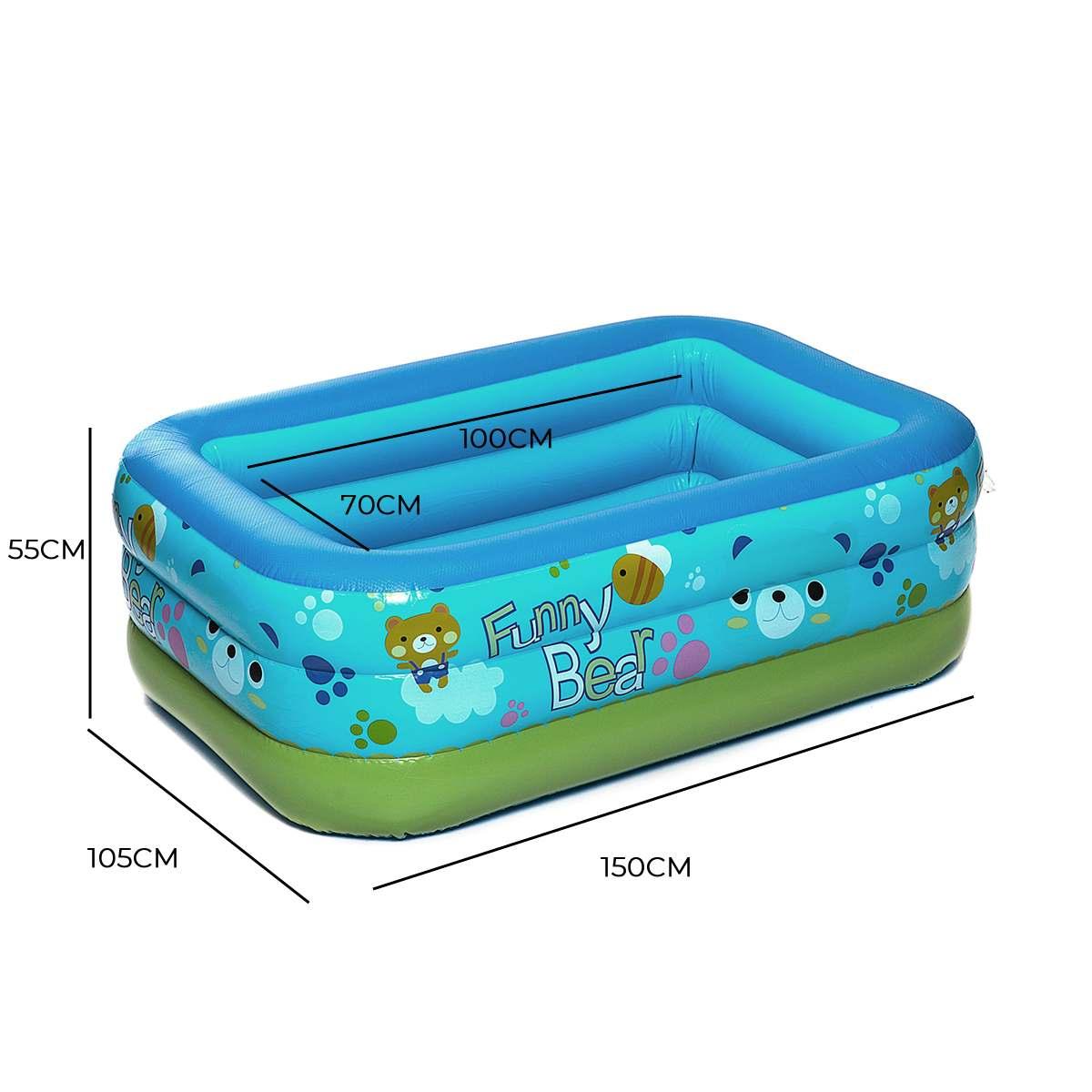 150 cm gonflable bébé piscine Piscina Portable extérieur enfants bassin baignoire enfants piscine bBaby piscine