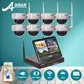 Подключи И Играй 8-КАНАЛЬНЫЙ Беспроводной NVR Комплект ''жк-Экран 720 P HD открытый ИК антивандальная Купольная Ip-камера ВИДЕОНАБЛЮДЕНИЯ Системы Безопасности 2 ТБ HDD