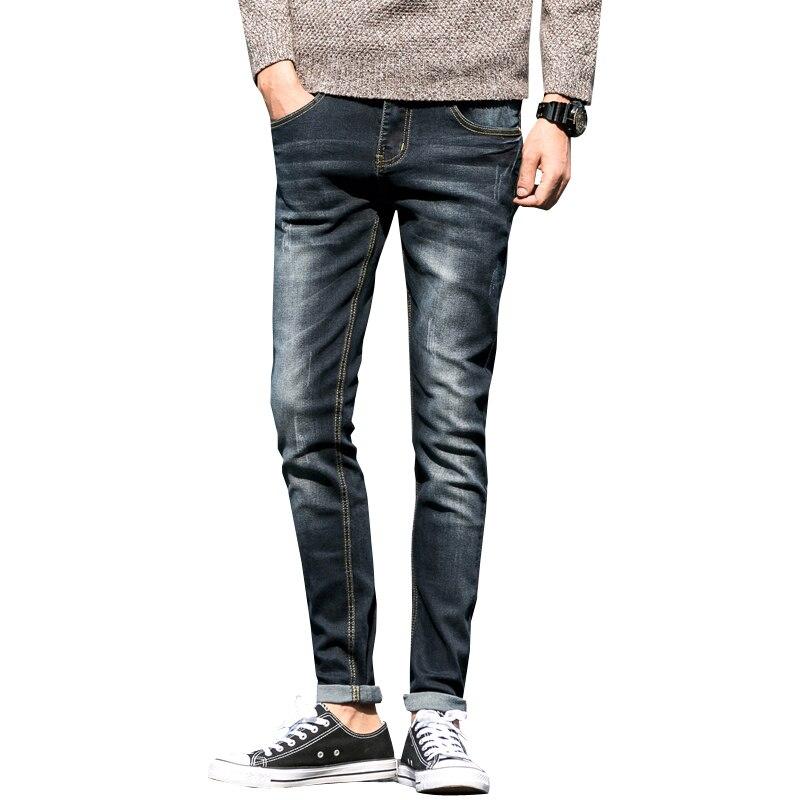 Mens Jeans Stretch Summer Lightweight Thin Blue Denim Jeans men Fashion Male Trousers Pants