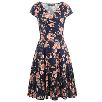 Summer Dresses Party Women Blue Grey Casual Plus Size Dress Beach1950 S 60 S Hot Sale