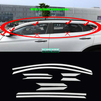 Car Window ABC pillars Decorative Sticker For hyundai tucson TL 2015 2018 Exterior Cover Trim Strip auto Accessories car styling