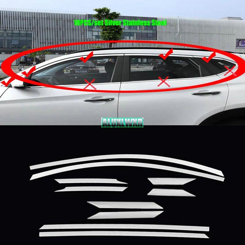 Voiture Fenêtre ABC-piliers Décoratifs Autocollant Pour hyundai tucson TL 2015-2018 Couverture Extérieure Garniture Bande auto Accessoires voiture-style