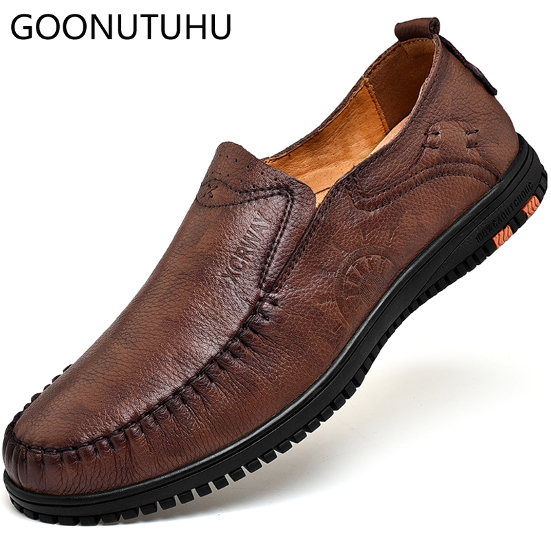 6cafc713f Mocassins Homem Black Flats Dos Para amp; De Nova Moda Sapatos Condução Homens  Sapato 2019 Couro Brown Vaca Casuais Genuíno Masculinos Clássico 6vH7nqx