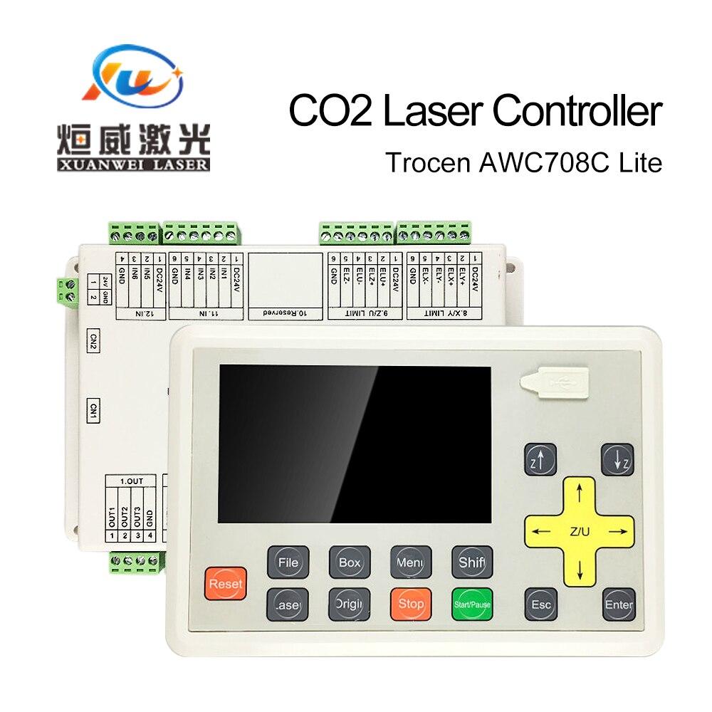 Trocen Anywells AWC708C Lite CO2 Controllore Del Laser DSP Scheda Madre del Sistema Sostituire AWC608 Per Il Taglio di Incisione di Parti di Macchine