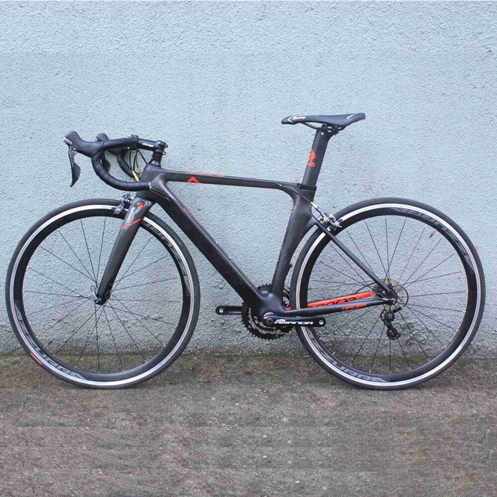 Vélo de route complet 2018 vélo de vitesse à poutre Toray t800 XXS/XS/S/M/L 22 vitesses avec shimano 4700 5800 vélo de route en carbone