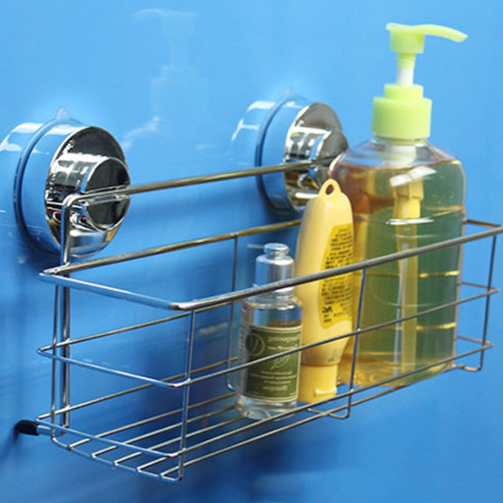 Bathroom Rustproof Bath Shower Shelves Stainless Steel Wall Basket ...