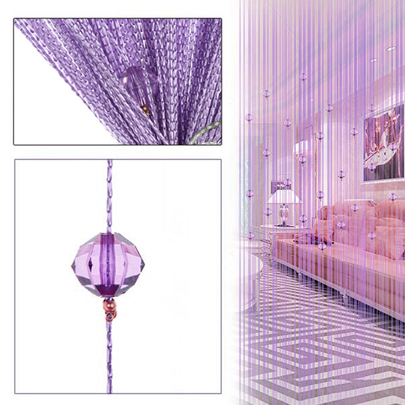 coxeer Door Bead Curtain Romantic Acrylic Creative Door String Curtain Imitation Crystal Beads Divider Curtain For Living Room