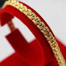 Браслет на запястье с желтым золотом резной браслет цепочкой