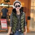 Korean Style Women Clothing Cotton Sleeveless Vest Warm Winter Cotton Gilet M-XXXL Plus Size YO