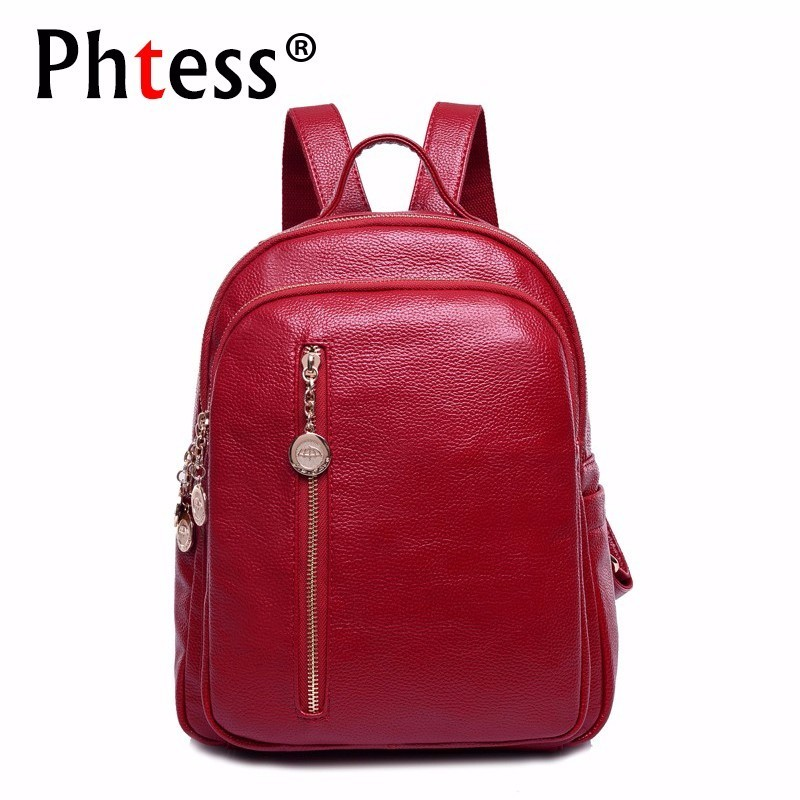 купить 2018 Women Leather Backpacks High Quality Sac A Dos Femme School Bags For Girls Preppy Vintage Bagpack Ladies Casual Daypack New по цене 1692.46 рублей