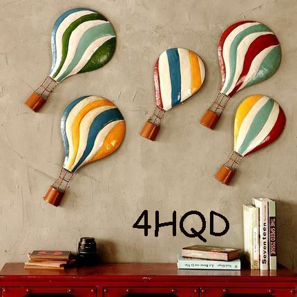 Méditerranéen ballon à Air chaud décoration salon stéréo en fer forgé pendentif rétro Bar décorations créatif Mural
