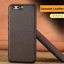 wangcangli Genuine Leather Phone Case For HUAWEI P10 P20 Diamond Texture Back Cover Huawei Mate 9 10 Pro Nova 2S Plus Cases