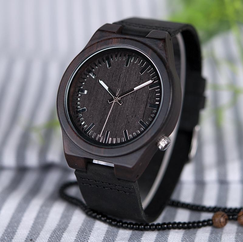Zegarek drewniany Bobo Bird Dark B12 6