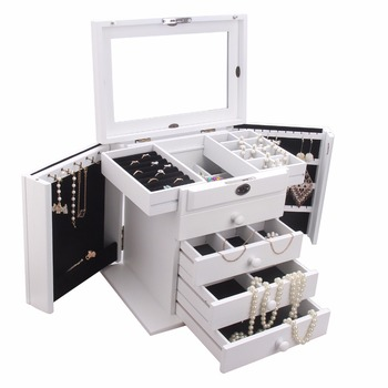 ROWLING Large Wooden Storage Box With Lock