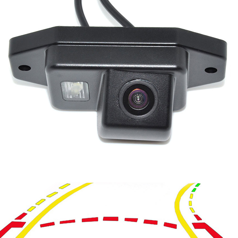 Intelligent Dynamic Trajectory Tracks Rear View Reversing Backup Camera For Toyota Prado Land Cruiser 120 Parking Assistance