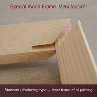Hot Sale Good Pine Wood Material Frame For Canvas Painting Oil Painting American And French Style
