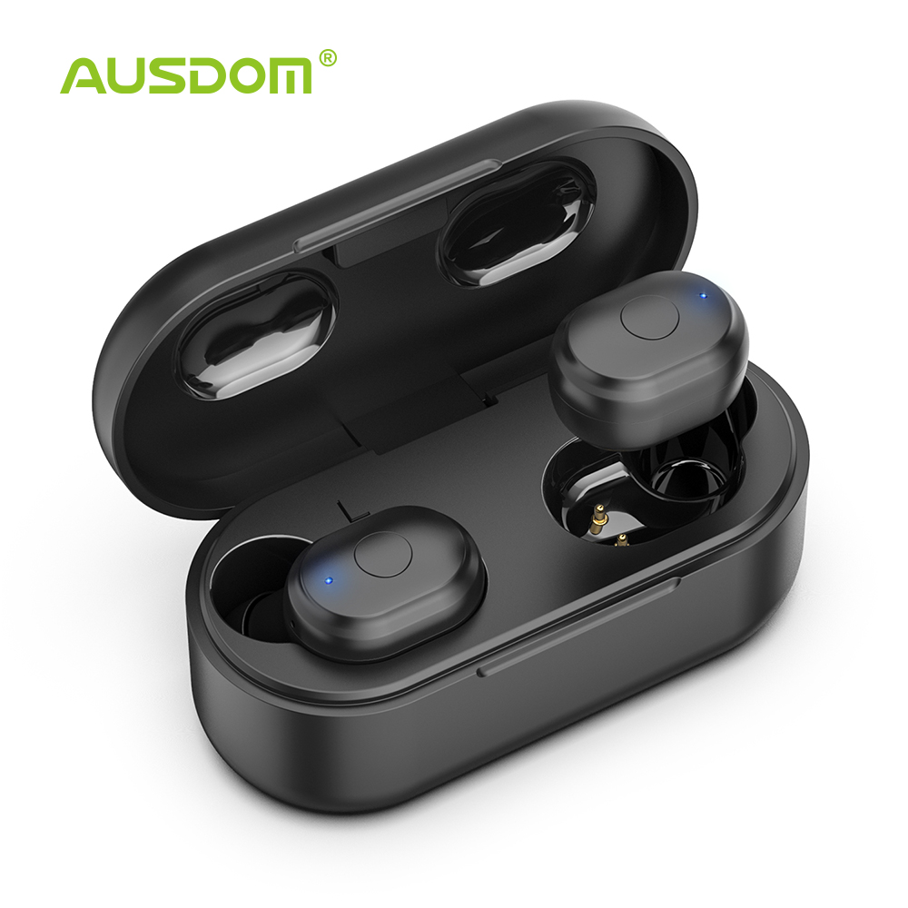 AUSDOM TW01 <font><b>TWS</b></font> Wireless Bluetooth Earphone 20H Play Time Wireless Headphone CVC8.0 Noise Cancelling Sport Earbuds With Dual Mic image