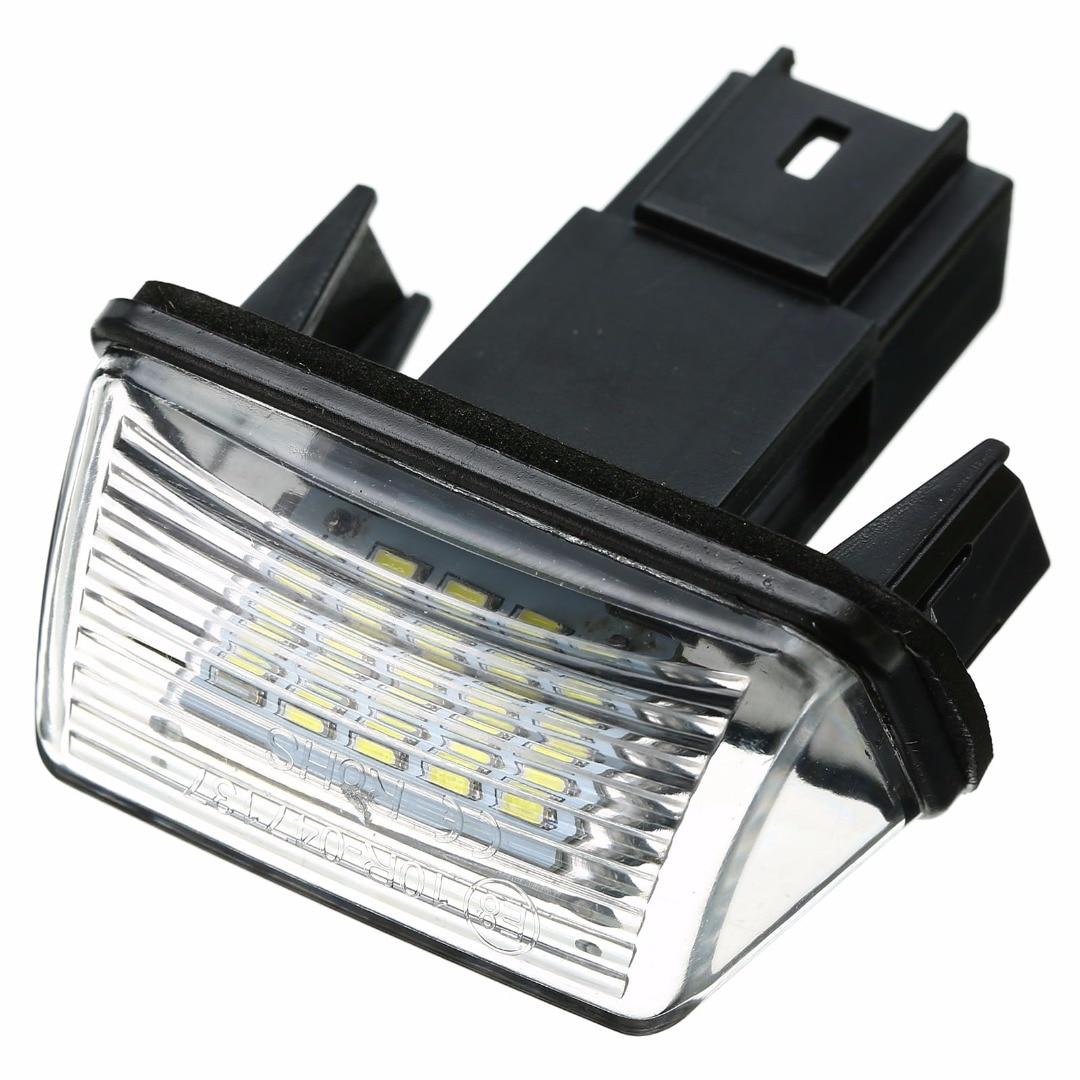 12V LED Number License Plate Light Lamp For Peugeot 206 207 306 307 406 407 For Citroen C3 C4 C5 Car License Plate Light