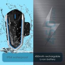 цена на Easy Operation Motorcycle Helmet Intercom Waterproof Wireless Bluetooth Moto Headset Interphone Moto Headphone Helmet Intercom