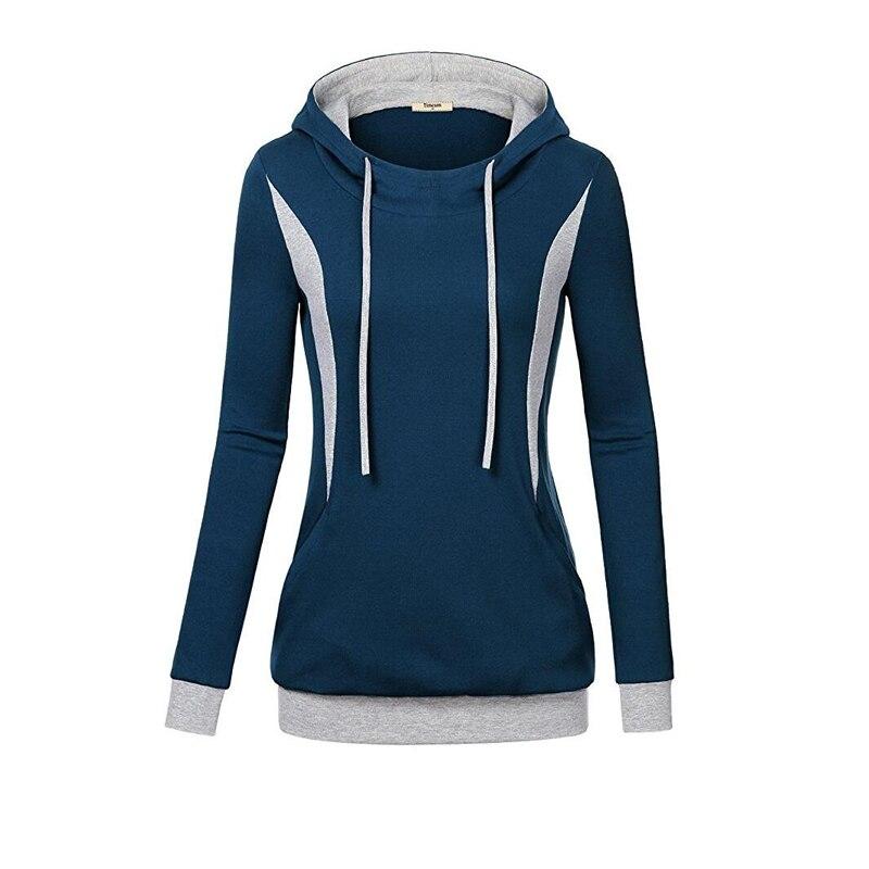 Sweatshirts Female Hoodie Plus Size Sweatshirt Women Long Sleeves Patchwork Thick Hooded 2018 Fashion Casual Winter Warm Hoodie