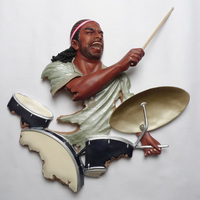 Crafts Arts Home decoration Xinrong music dance hall wall mural drummer bar Tea Restaurant Club wall decorations