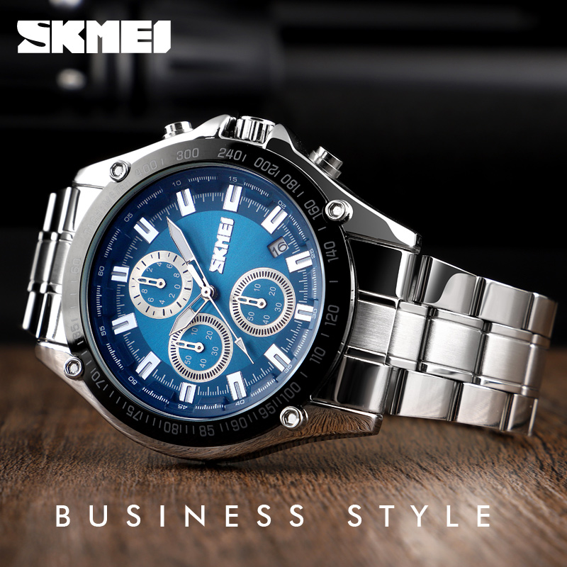 <font><b>SKMEI</b></font> TOP Luxury Brand Fashion Casual Mens Watches Chronograph Date Sport Quartz Watch Men Waterproof Clock Relogio Masculino image
