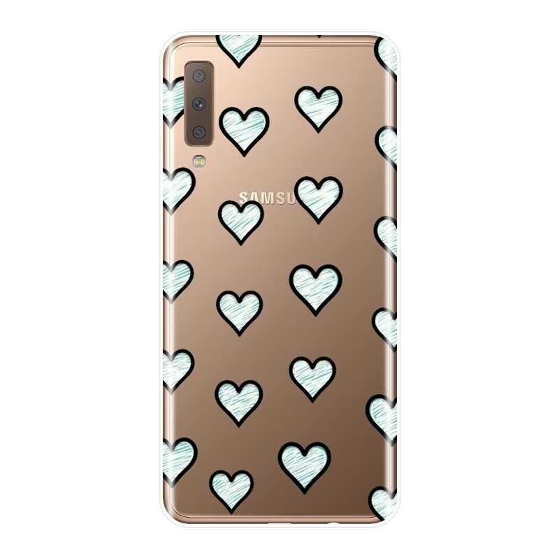 С принтом «сердце», «Любовь Kawaii задняя крышка для samsung Galaxy A3 A5 A7 2016 2017 Мягкий силиконовый чехол для телефона для samsung A6 A8 плюс 2018 A5 A7