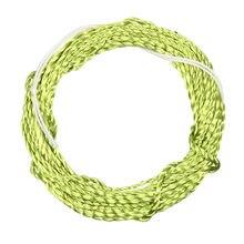 12/13ft furled líder tenkara voar linha de pesca poliéster trançado furled líder tenkara linha grama verde ouro preto amarelo