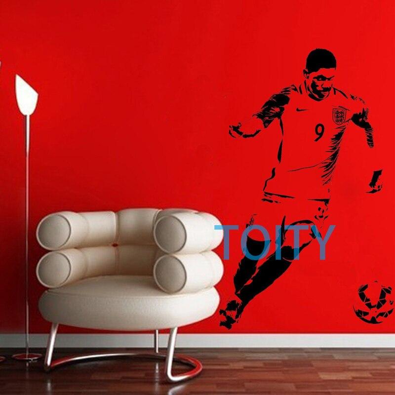 Marcus Rashford Wall Sticker England Footballer Vinyl Decal Home Interior Boy Bedroom Sport Art Decor Dorm Club Bar Mural S M L Football Vinyl Wall Stickervinyl Decal Aliexpress
