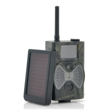 Cheapest prices HC300M Scouting Hunting camera GPRS MMS Digital 940NM Black Infrared Trail Camera + Solar Panel Battery