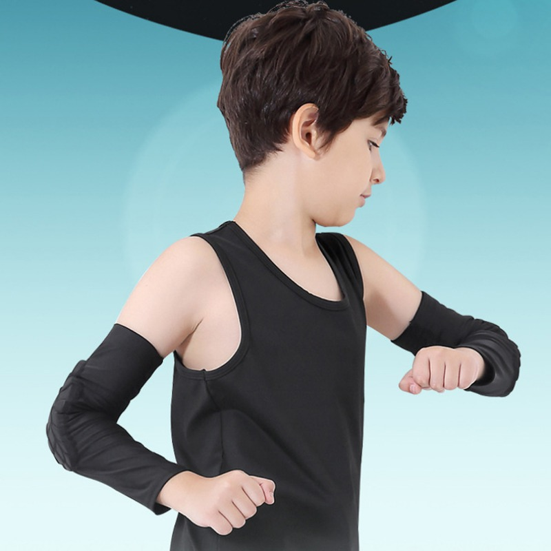 Hot 1 Pc Kids Honeycomb Elbow Pads Children Sports Anti-Collision Basketball Elbow Brace Sleeve Children Skating Running