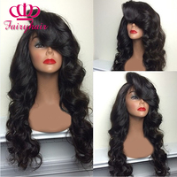 Wholesale synthetic lace front wig black body wave with bangs heat resistant synthetic lace front wig.jpg 200x200