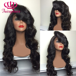 Wholesale synthetic lace front wig black body wave with bangs heat resistant synthetic lace front wig.jpg 250x250