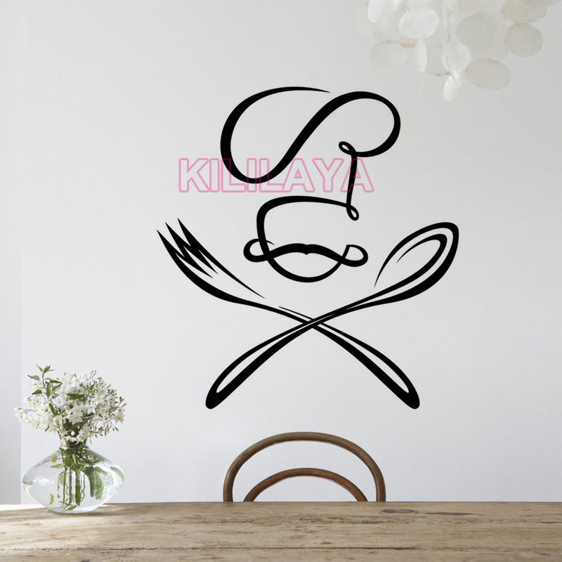 Stickers Cuisine Knife Fork Vinyl Wall Decals Sticker Mural Wall